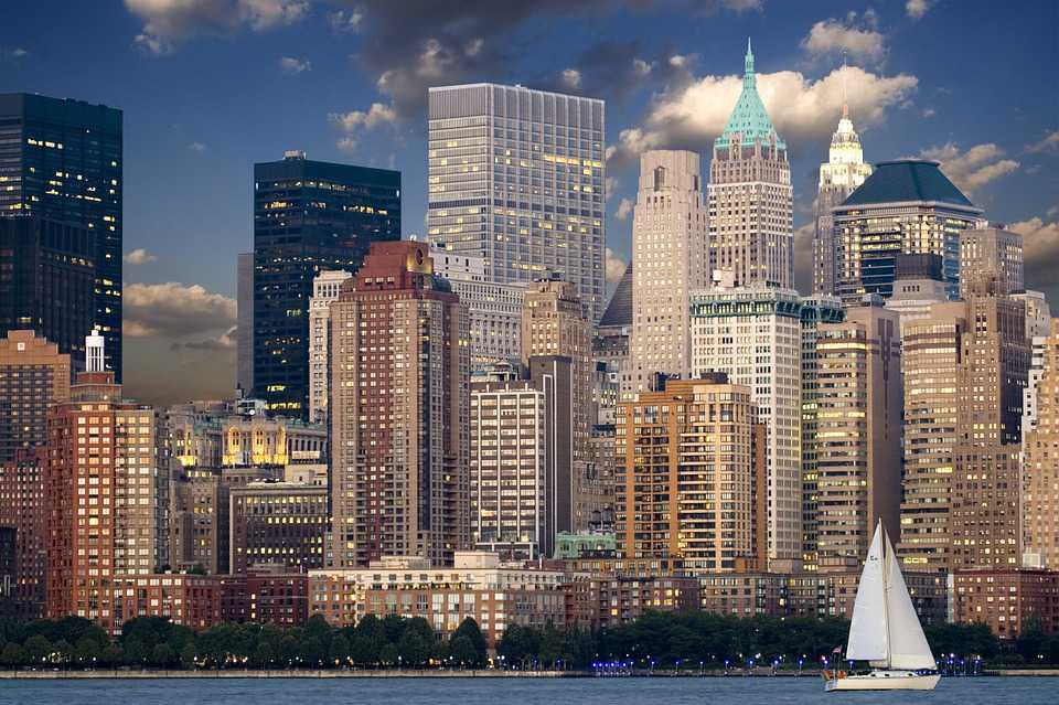 New York Skyline Manhattan Hudson - Poster kaufen