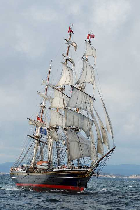 Clipper Ship Three Masted Sails - Poster kaufen