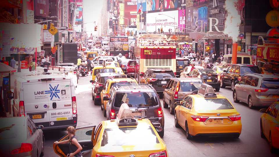 Time Square New York Stau - Poster kaufen