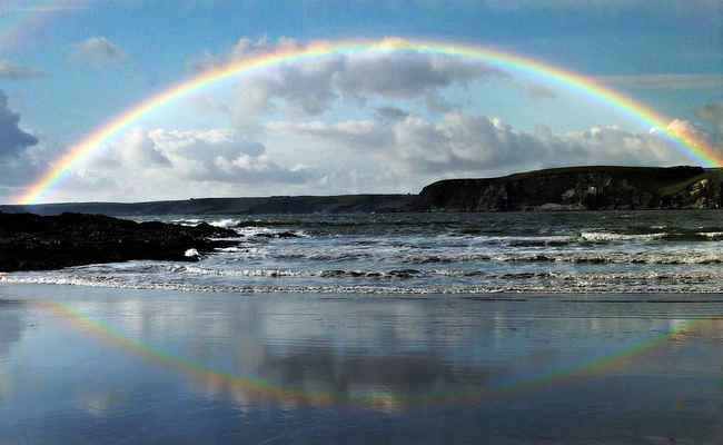 Poster Regenbogen Meer Download