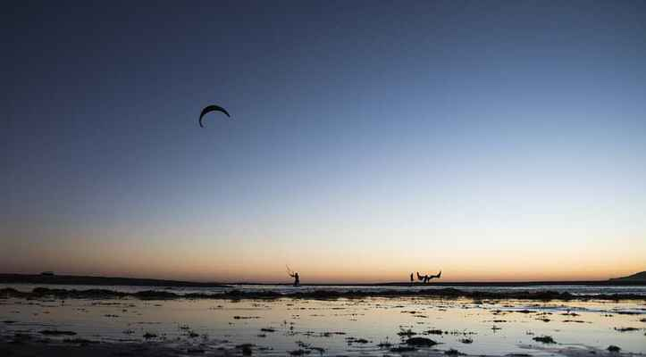 Poster Kite Surf Rate Sonnenuntergang Wind Himmel Ecological