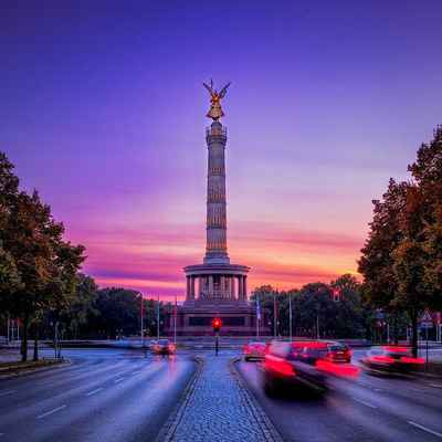 Poster Siegessäule Berlin Capital Wahrzeichen Gold Else Places Download