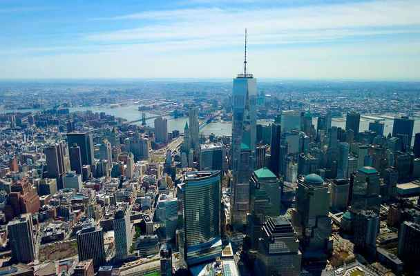 Poster World Trade Center Innenstadt Aerial New York Download