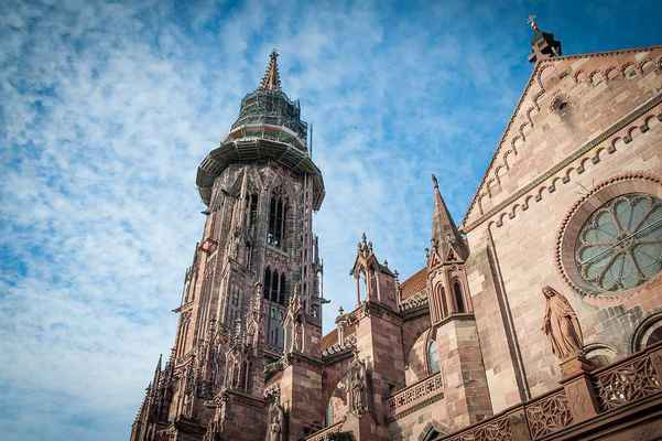 Poster Cathedral Freiburg Gothic Church Turm Historisch Monument Download