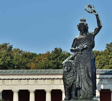Poster Bavaria Theresienwiese Munich Statue Art Monument