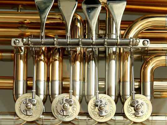 Poster Rotary Valves Tuba Stimmzug Brass Instrument Gloss Download