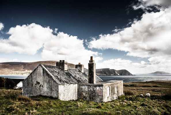 Poster Hütte Ruine Irland Haus Am Meer Download