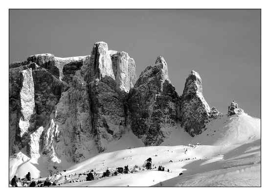 Poster Sella Group Sellaronda Alpine Berge Schnee Wintry