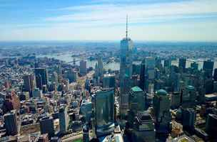 Poster World Trade Center Innenstadt Aerial New York