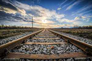 Poster Gleise Alt Railroad Tracks Seemed Train Metal Download