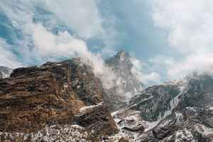 Poster Berge Summit Peak Himmel Wolken High Top