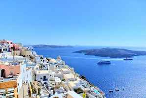 Poster Greece Santorini Strand The Sonne Holidays Sommer