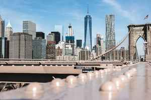 Poster USA New York Manhattan Brooklyn Brücke Hängebrücke