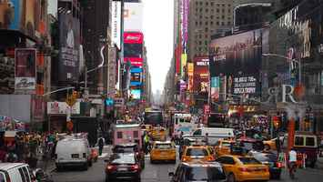 Poster Stau New York Taxi Manhattan Chaos Big
