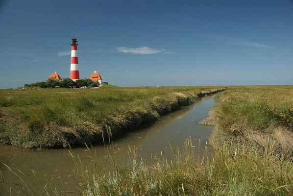 Poster Leuchtturm North See Westerhever Intertidal Zone Daymark