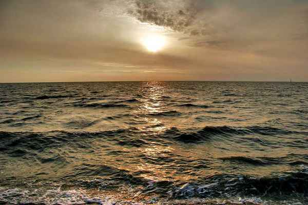Poster See North Norden Norddeich Sonnenuntergang Wave Abend Download