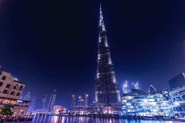Poster Burj Khalifa Emirate Dubai Vereinigte Arabische Architektur Download